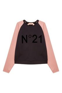 Комбинированный свитшот No.21