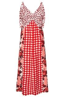 Комбинированное платье в стиле пэчворк Marni