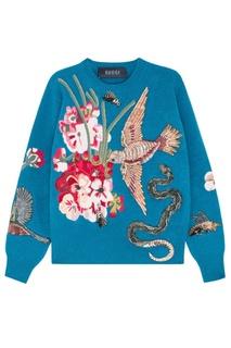 Шерстяной свитер с вышивкой Gucci