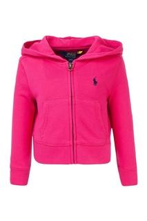 Хлопковое худи розовое Ralph Lauren Children