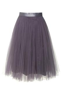 Юбка-миди из сетки фиолетового цвета T Skirt