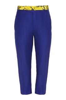 Шелковые брюки с контрастным поясом Haider Ackermann
