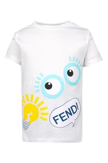 Хлопковая футболка Fendi Children