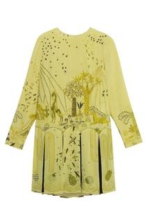 Шелковое мини-платье с принтом Valentino