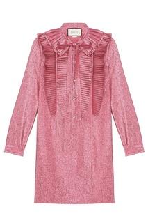 Платье с плиссировкой Gucci