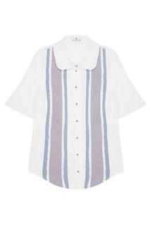 Комбинированная блузка Laroom