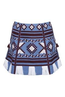 Льняная юбка-мини Croatia Vita Kin