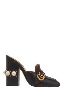Кожаные туфли-мюли Gucci