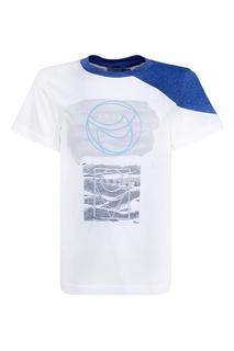 Хлопковая футболка Dior Children