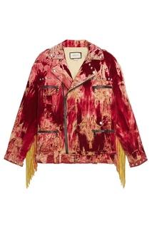 Вельветовая куртка-косуха Gucci