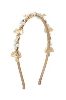 Ободок с жемчугом и кристаллами Lisa Smith