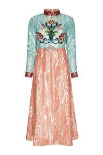 Платье с пайетками Gucci