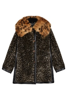 Шерстяное пальто с пайетками Marc Jacobs