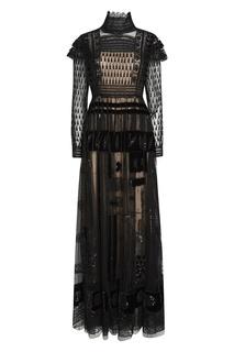 Платье-макси с вышивкой Valentino