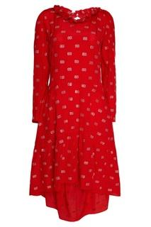 Шелковое платье с монограммами Balenciaga