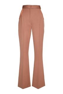 Расклешенные бежевые брюки Nina Ricci