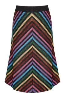 Трикотажная юбка с люрексом Gucci
