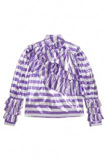 Блузка из ламе в полоску Alessandra Rich