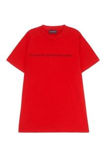 Хлопковая футболка красная Subterranei