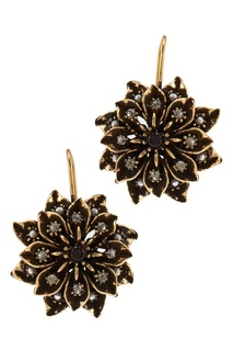 Серьги-цветы с гранатом Maurizio Mori
