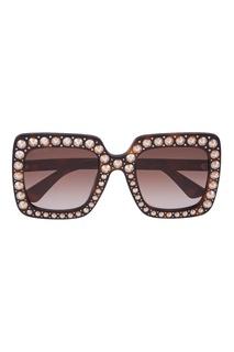 Солнцезащитные очки с кристаллами Gucci