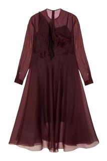 Шелковое платье Delpozo