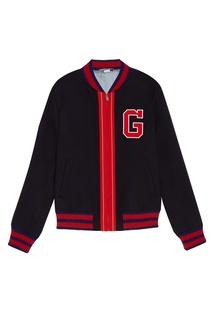 Куртка-бомбер с контрастной отделкой Gucci