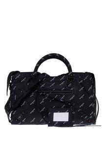 Черная кожаная сумка Classic City M Balenciaga