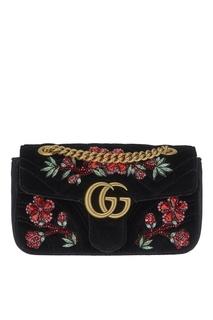 Декорированная сумка GG Marmont Gucci