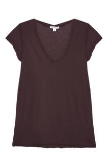 Фиолетовая футболка из хлопка James Perse