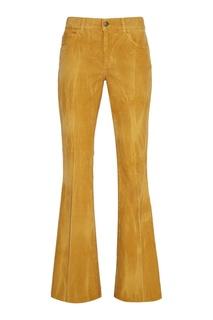 Бежевые брюки из вельвета Gucci
