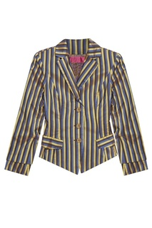 Шелковый костюм в полоску (1990-е) Christian Lacroix Vintage