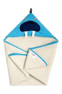 Синее полотенце с капюшоном 3 Sprouts