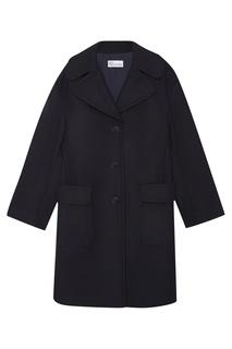 Синее пальто из шерсти RED Valentino