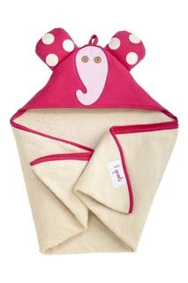 Розовое полотенце с капюшоном 3 Sprouts