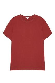 Красная футболка из хлопка James Perse