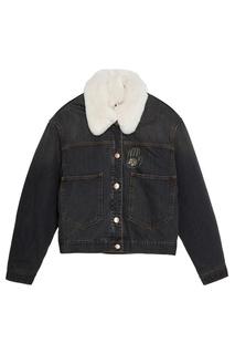 Джинсовая куртка с вышивкой на спине Eleane Isabel Marant