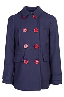 Двубортное пальто Burberry Children