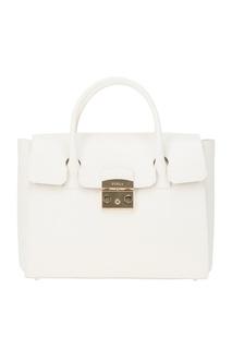 Белая сумка Metropolis Furla