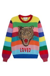 Шерстяной джемпер с тигром Gucci