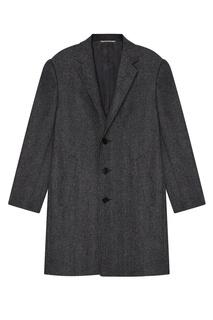 Серое шерстяное пальто Canali