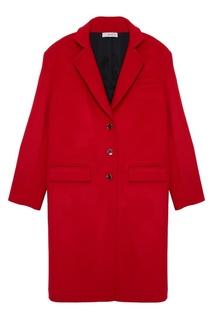 Красное шерстяное пальто ЛИ ЛУ