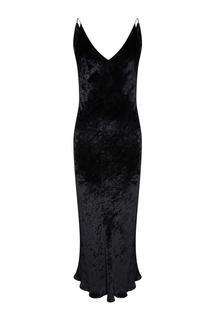 Черное платье из панбархата Alexander Terekhov