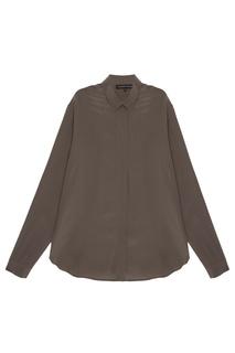 Шелковая блузка цвета хаки Alexander Terekhov