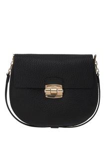 Черная кожаная сумка Club Furla