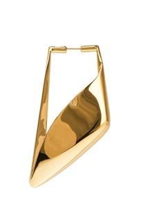 Золотистая моносерьга Wrap Buckle Balenciaga