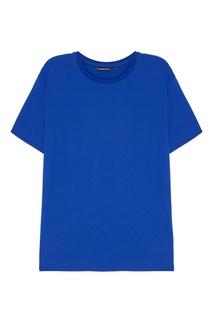 Синяя хлопковая футболка Blank.Moscow