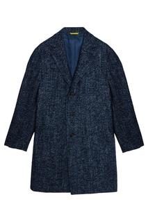 Синее шерстяное пальто Canali