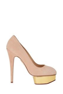 Розовые туфли из замши Dolly Charlotte Olympia