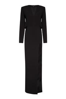 Черное платье с разрезом Alexander Terekhov